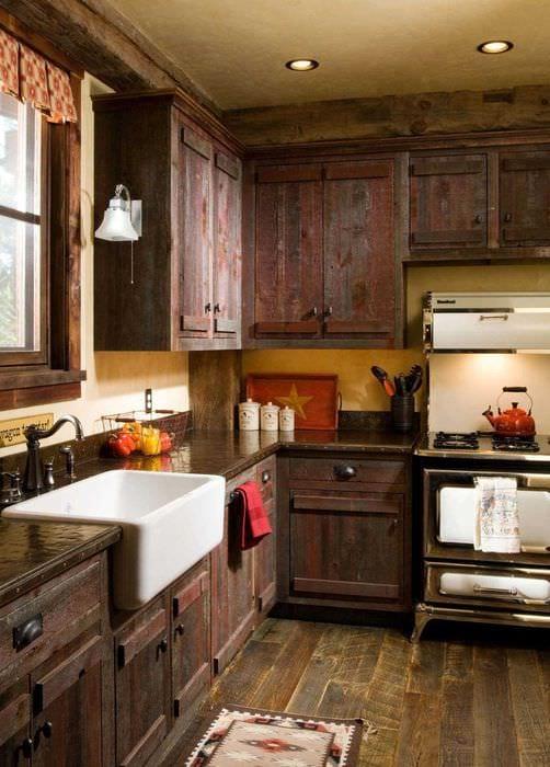 классический стиль кухни в стиле рустик