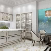 яркий дизайн квартиры в греческом стиле картинка