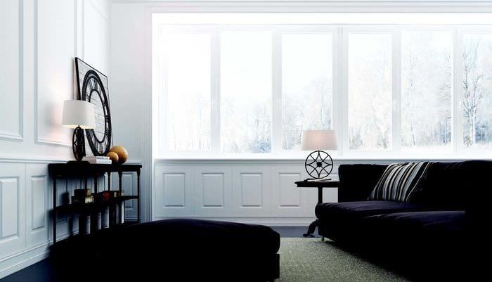 оригинальный интерьер спальни со стеновыми панелями