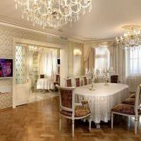красивый дизайн гостиной в стиле ампир картинка