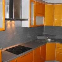яркий дизайн гостиной в горчичном цвете фото
