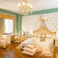 яркий интерьер квартиры в стиле ампир фото