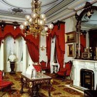 светлый декор спальни в стиле ампир картинка