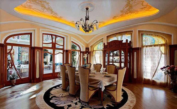 красивый интерьер гостиной в стиле модерн