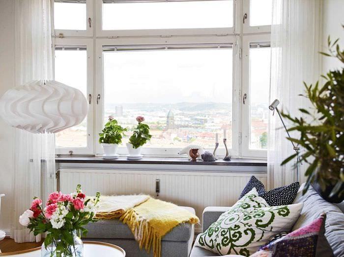 необычный интерьер комнаты в весеннем стиле