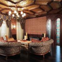 современный дизайн гостиной в готическом стиле фото