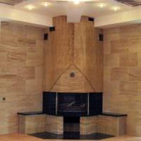 светлый гибкий камень в дизайне квартиры картинка