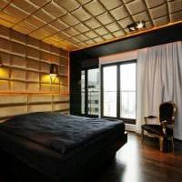 необычный дизайн спальни со стеновыми панелями фото