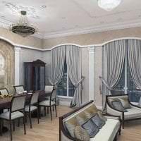 яркий дизайн комнаты в греческом стиле фото