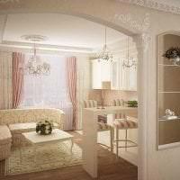 необычный интерьер гостиной в греческом стиле картинка