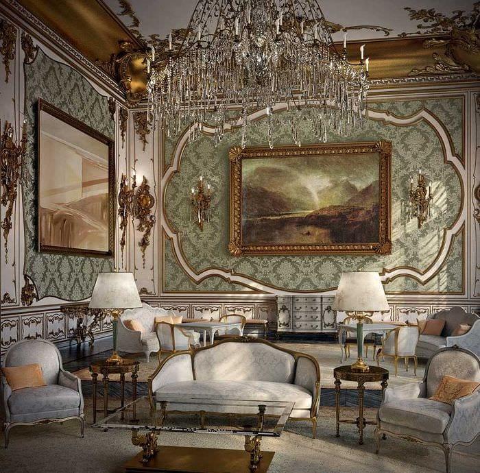 необычный декор комнаты в стиле ампир