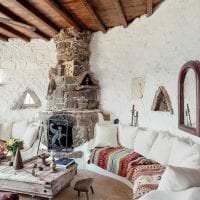 яркий дизайн комнаты в греческом стиле картинка