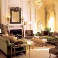 темный дизайн комнаты в викторианском стиле картинка