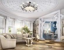 необычный стиль гостиной в греческом стиле фото