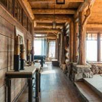 яркий интерьер кухни в стиле рустик картинка