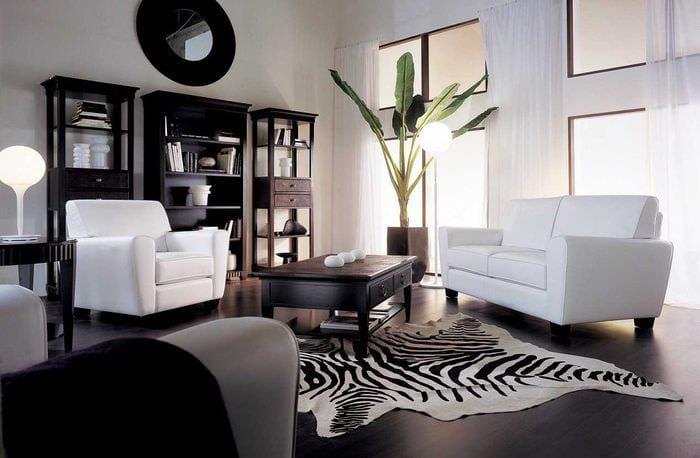 классический темный пол в стиле комнаты