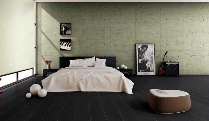 красивый темный пол в декоре квартиры