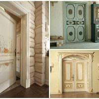оригинальное оформление межкомнатных дверей своими руками картинка