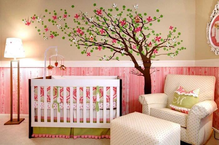 Фото дизайн стен в детской своими руками