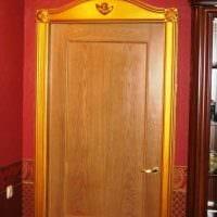 оригинальное декорирование дверей своими руками картинка