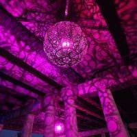 яркое украшение абажура лампы своими руками фото