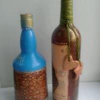 яркое оформление бутылок для стиля комнаты фото