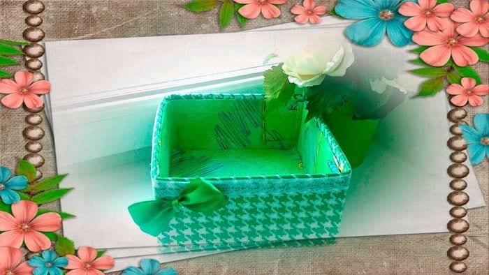 необычное украшение картонных коробок подручными материалами