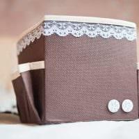 оригинальное оформление коробок для хранения подручными материалами фото