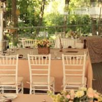 современное декорирование свадебного зала шариками фото