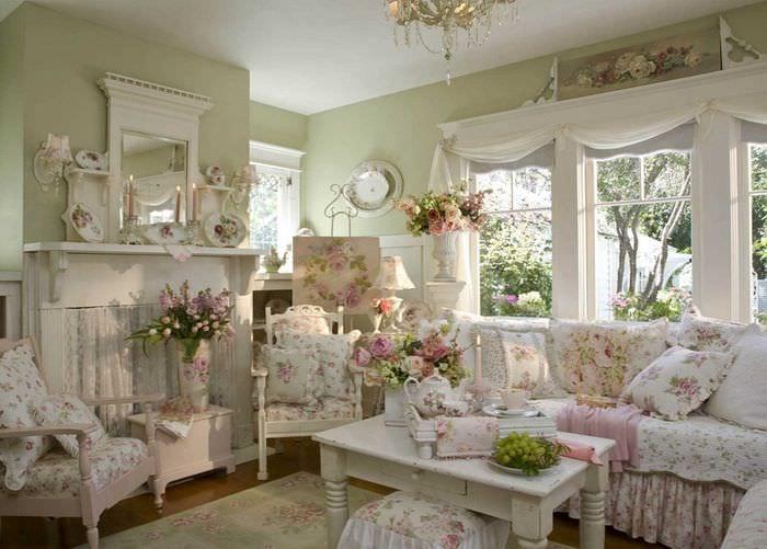светлый дизайн комнаты в стиле прованс