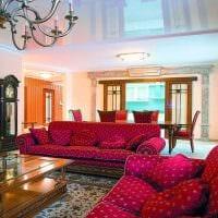 яркий дизайн комнаты в стиле ампир картинка