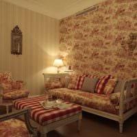 светлый дизайн гостиной в стиле ампир картинка