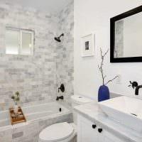 красивый дизайн душевой комнаты картинка