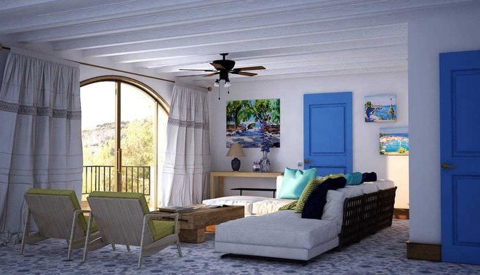 необычный дизайн спальни в средиземноморском стиле