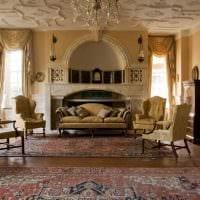 необычный дизайн комнаты в стиле ампир картинка