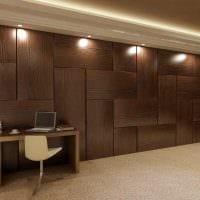 красивый декор спальни со стеновыми панелями фото