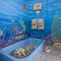 светлый дизайн ванной комнаты картинка