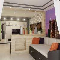 оригинальный дизайн гостиной спальни картинка