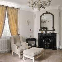 оригинальный интерьер гостиной в стиле прованс фото