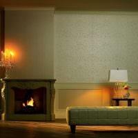 сочетание светлых обоев в интерьере гостиной комнаты картинка