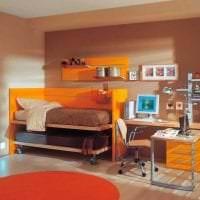 сочетание темного оранжевого в дизайне дома с другими цветами фото