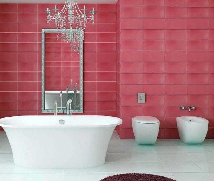 сочетание яркого розового в дизайне спальни с другими цветами