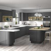 сочетание темного серого цвета в дизайне дома картинка