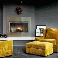 сочетание светлого серого в дизайне комнаты с другими цветами картинка