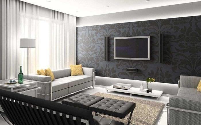 сочетание светлого серого в интерьере комнаты с другими цветами