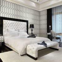 сочетание светлых тонов в декоре спальни картинка