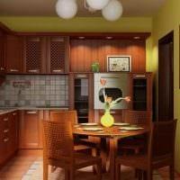 комбинирование ярких цветов в стиле кухни фото
