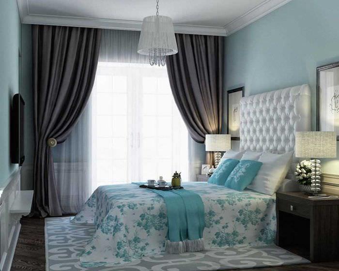 комбинирование ярких тонов в стиле спальни