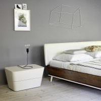 сочетание светлого серого цвета в дизайне квартиры фото