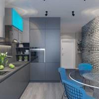 сочетание яркого серого цвета в интерьере квартиры фото